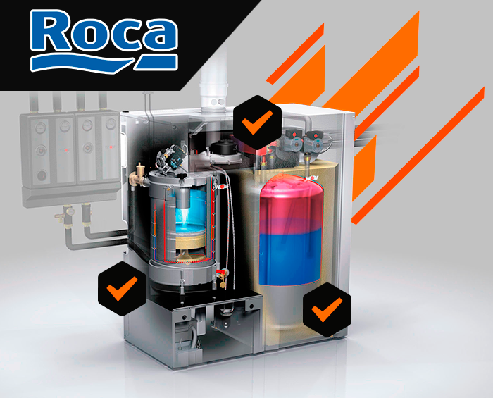 contratos de mantenimiento de calderas Roca en Toledo