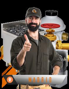 reparación instalación de gas natural en Madrid