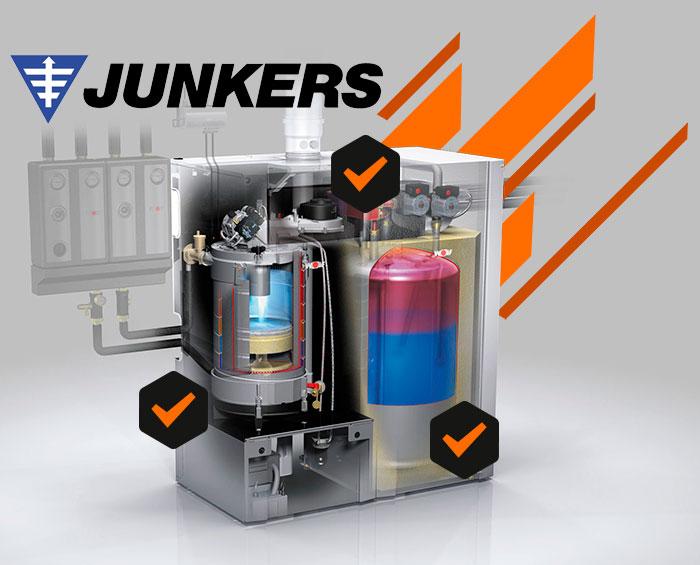 Contratos de mantenimiento de calderas Junkers en Aluche